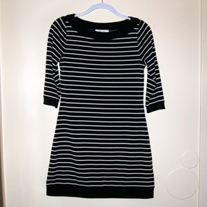 White House Black Market Stretch B&W Dress XS